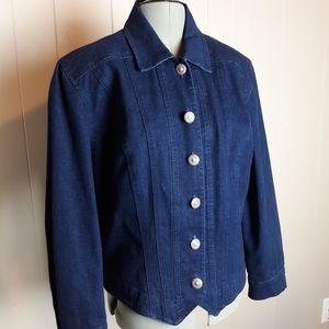 Vintage 80s tailored denim jacket